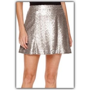 NWT Silver Sequined Skirt